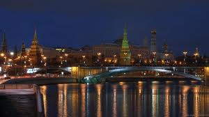Night scene russia