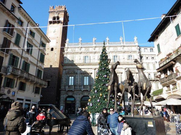 Piazza Delle Erbe Verona Italy