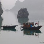 Halong Bay on a Misty Day