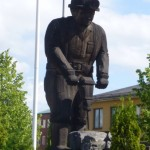 A monument to the working man in Luvika, Sweden