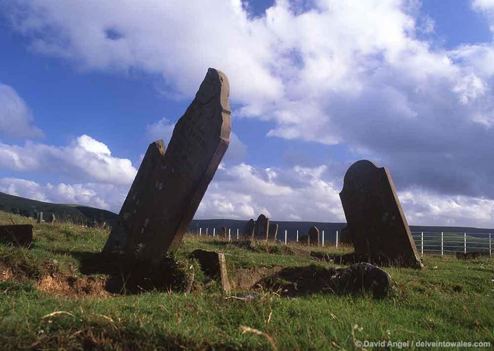 Headstones Cefn Golau Cholera Cemetery, Wales